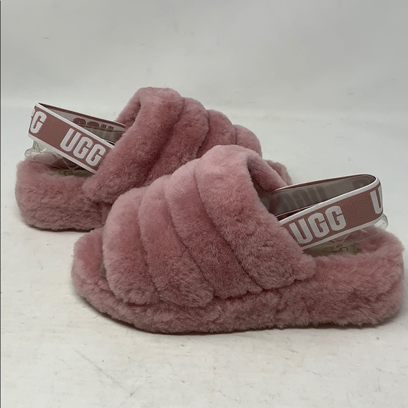 46e99f36bc9 UGG Women's Fluff Yeah Slide in Pink Dawn Sz7